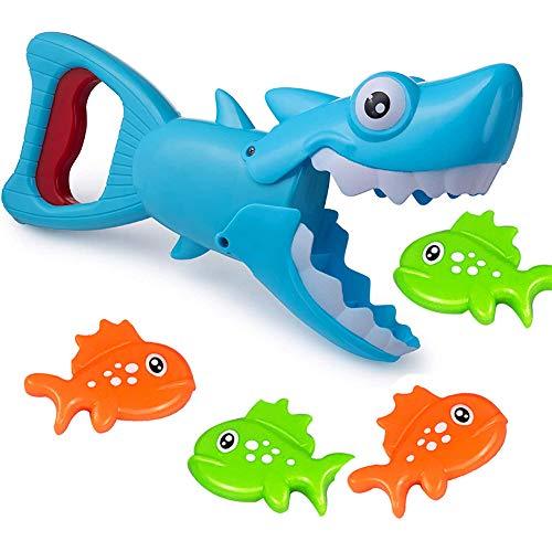 Shark Predator Bathtub Toy Set, Baby Bath Toys, Creative Bathing Puzzle Water Toy para niños de 1 4 años de Edad, Adecuado para Juegos acuáticos de Entretenimiento Familiar (5 Piezas)