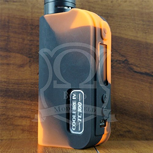 Silicone Case for Cool FIRE IV 4 100W TC ModShield ByJojo TC100W Skin Sleeve Cover Shield Wrap (Orange/Black)