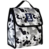 Wildkin Kids Insulated Lunch Bag for Boys and Girls, Lunch Bags is Ideal Size for Packing Hot or Cold Snacks for School and Travel, Mom's Choice Award Winner, BPA-Free (Gray Camo)