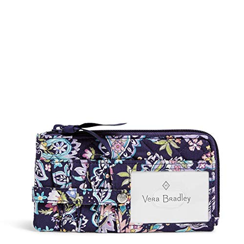 Vera Bradley womens Signature Cotton Ultimate Card Case With Rfid Protection Wallet, French Paisley, One Size US
