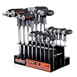 HORUSDY 18-Piece T-Handle allen wrench set, Inch/Metric...