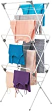 mDesign Tall Vertical Foldable Laundry Drying Rack - Compact, Portable and Collapsible for Storage - Large Capacity, 27 Dr...