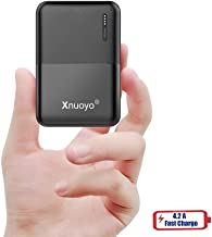 Xnuoyo 10000mAh Mini Power Bank Portable Charger Compact External Battery Pack High Capacity Powerbank with LED Indicators Dual Input & Output Compatible with Most Smart Phones