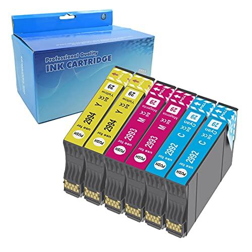 Teng 6color 29XL Cartuchos de Tinta para Epson 29 XL Compatible con Epson Expression Home XP-235 XP-245 XP-247 XP-255 XP-332 XP-335 XP-345 XP-352 XP-355 XP-432 XP-442 XP-445 XP-452 XP352