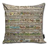QMS CONTRACTING LIMITED Throw Pillow Cover The Whole Gabeaux Tapestry - Story of Outlander...