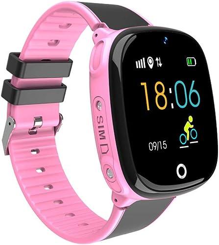 Montre intelligente pour enfants, écran pour téléphone intelligent étanche, écran couleur 2,5 pouces G + F, double positionnement GPS + station de base, 30W caméra distante activité IOS Android