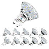 Ampoules LED GU10, 5W équivalent 60W, 600lm, Blanc Neutre 4500K, 120° Larges Faisceaux, Ampoules...