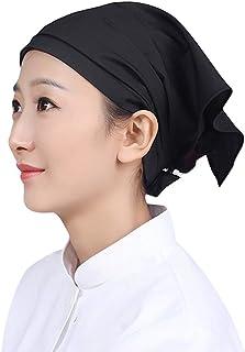 Tongliang - Sombrero profesional para cocinero o cocina, tocador, turbante