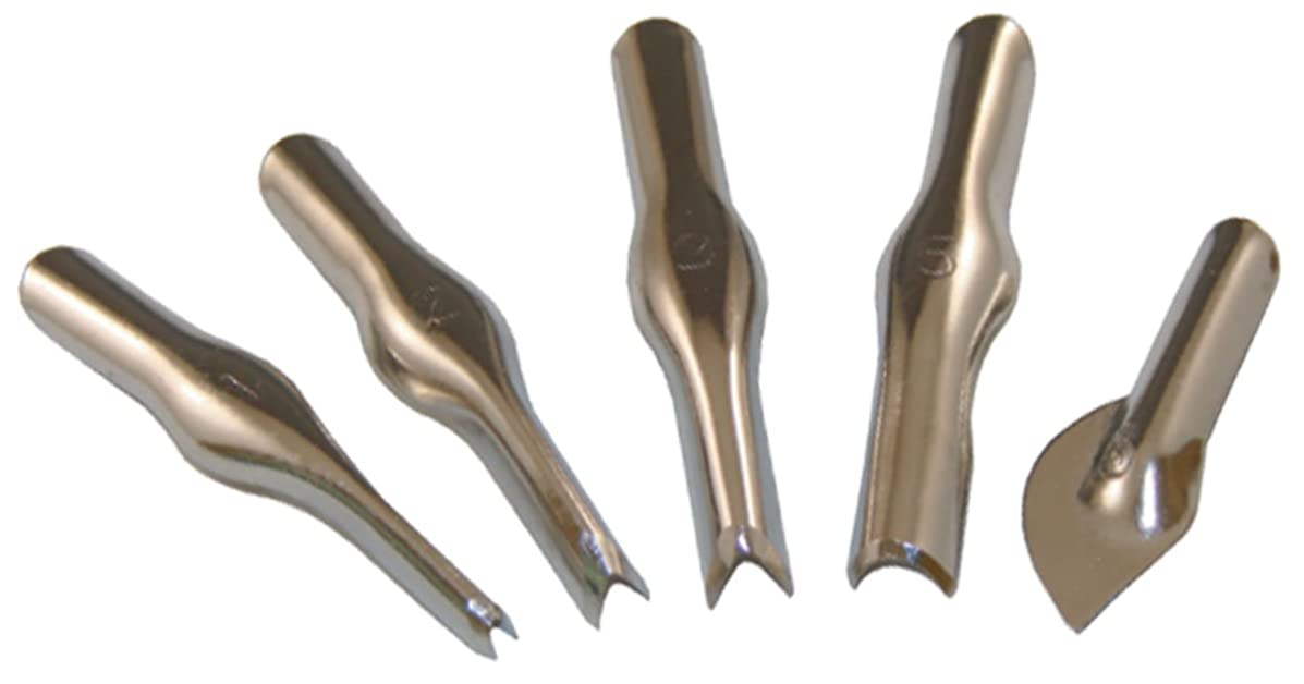 Inovart Lino Cutter Assortment of 5 Cutter Blades No.'s 1, 2, 3, 5 & 6