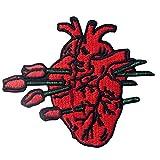 Parche termoadhesivo para la ropa, diseño de Tenderly herido por amor Corazón roto por Rose
