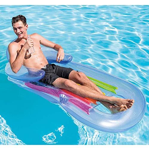 XYL Salón Inflable Inflable del Agua Flotante Fila Flotante Surf Cama reclinable en balsa Monta neumáticos de Repuesto reclinable Azul
