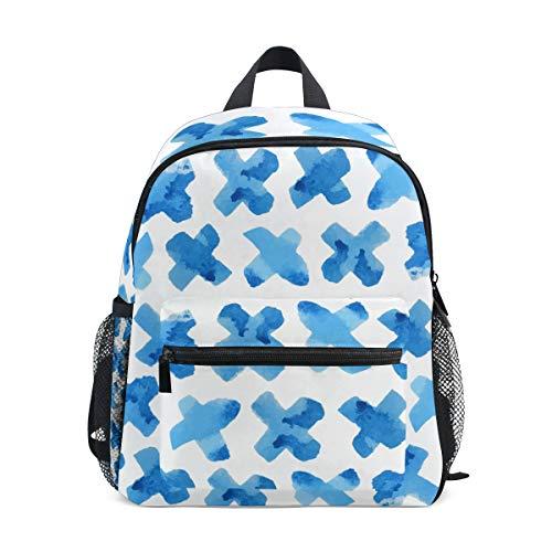 MONTOJ Blue Cross Sac d'école pour garçons Pliable d'école Sac à Dos