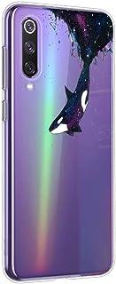 Suhctup Case Compatible con Xiaomi10 Funda Transparente Suave Silicona TPU Bumper Cárcasa Dibujos Animales Diseño Ultra Delgada Antigolpes de Protector Piel Cover,Tiburón