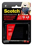 Scotch Interlocking Fasteners, 1 in x 3 in, 4 Strips, Black, Holds up to 10 lbs (1 set holds 2 lbs)