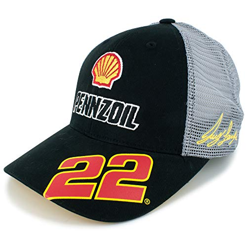 Checkered Flag Joey Logano Shell Pennzoil #22 Team Hat Black