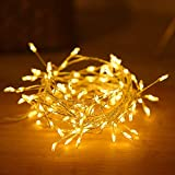 Bigbarry Alta eficiencia LED de Cuerda de Alambre de Cobre de Vacaciones Luces del Partido 2M 5M Petardos Garland lámpara por Año Nuevo Navidad de la Boda decoración de la lámpara Jieyue
