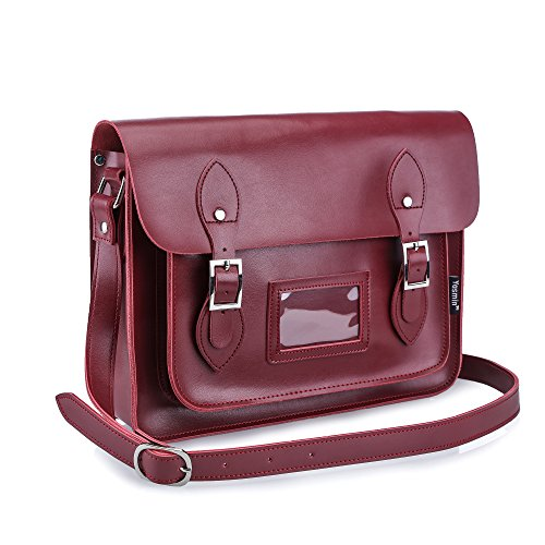 Yasmin Leather Satchel YLS013 - 13' Medium (Oxblood)