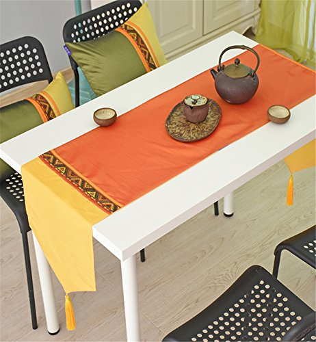 Sucastle® 35x180cm Satin de soie Chemin de Table Cuisine Imperméable Décoration en Aspect naturel