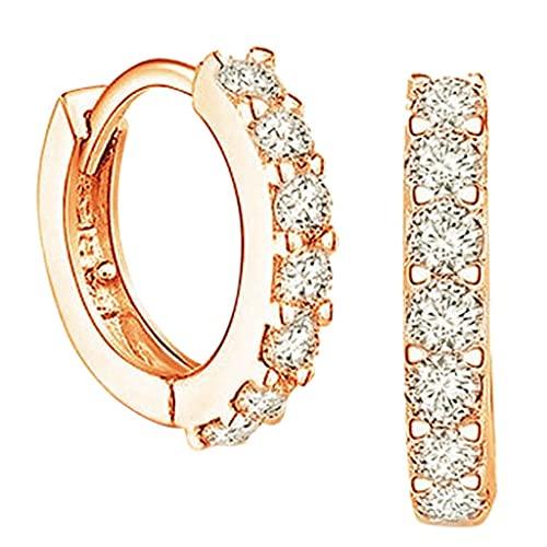 WATERSPA 1 par de pendientes clásicos de plata para mujer y hombre para niñas, joyería de moda con circonita cúbica (1 par de oro)