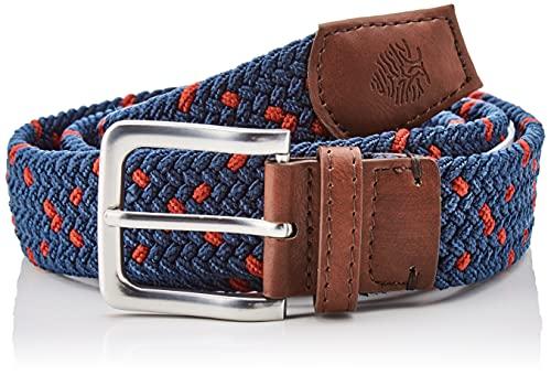 Springfield Cinturón básico Trenzado, Azul/Pato, 95 para Hombre