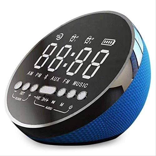 Mirage Draadloze Bluetooth Speaker Kolom Draagbare Muziek Sound Box Mini Led Tijd Snooze Alarm Klok Voor Pc Laptop