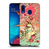 Official Mark Ashkenazi Angels Florals Hard Back Case Compatible for Samsung Galaxy A20 / A30 (2019)