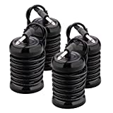 4-Pack Replacement Arrays for Ionic Detox Foot Spa Machines System, Ion Ionic Foot Bath Round Stainless Steel (6.35mm Adapter)