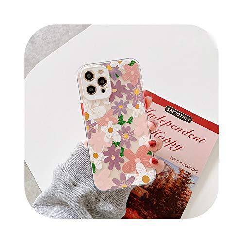Henraly - Carcasa transparente para iPhone 12, diseño de flores pequeñas y bonitas para iPhone 12 Mini 11 Pro Max 7 8 Plus se 2020 XS Max XR-WS556-1-For-iphone12ProMax