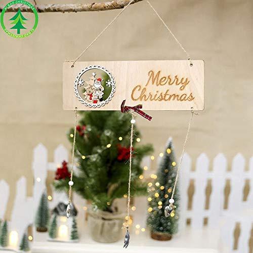ZXXFR Ciondoli E Pendenti Natalizi,6Pz Stella di Natale Ciondoli in Legno Ornamenti Albero di Natale Ornamento DIY Artigianato in Legno Regalo per Bambini per La Casa Natale Decorazioni