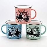 Jumi Surtido 3 Tazas MUG 9CM Porcelana 3 Colores Don QUIJOTE (Porcelana)