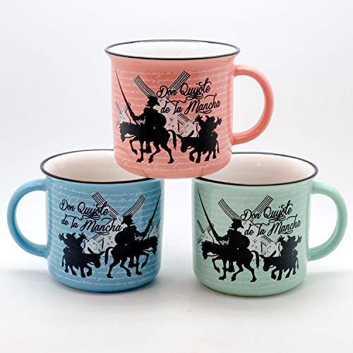 3 Tazas de  Don Quijote