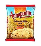 Annapurna Farm Fresh Whole Wheat Atta, 100% Whole Wheat for Soft Rotis, No Maida Added / 2 Kg.