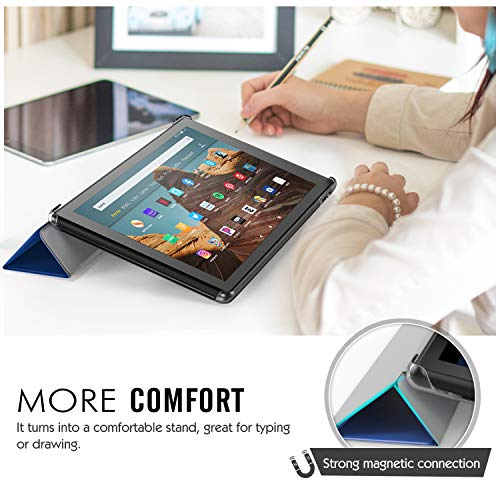 MoKo Ultra Lightweight Slim Shell Stand Cover with Translucent Frosted Back for Fire HD 10 2017 Tablet Parent.