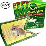 ZOORE 4 Unidades Trampa Adhesiva para Ratas, Profesional Trampa para Ratónes, fácil de Usar ratón Adhesivas para ratoncillos y Rata (34cm x 22cm)