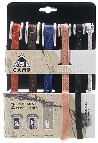CAMP Set Tricam Bunt-Braun-Pink-Rot-Schwarz-Weiß-Lila, Klemmgerät, Größe One Size - Farbe Farblich Sortiert