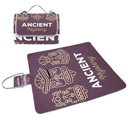 COOSUN Tribal-Picknick Decke, Praktisch, schimmelresistent, wasserdicht, für Picknicks, Strand, Wandern, Reisen, rving kurze