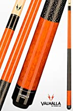 Viking Valhalla 2 Piece Pool Cue Stick with Irish Linen Wrap VA119 (20oz, Autumn Orange)