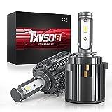 TXVSO H7 LED con Adaptador-Soporte de retención Especial para Volkswagen-Passat-Golf Faro de Haz bajo, 70W 14000LM 6000K lámpara Blanca, sin Errores, (Paquete de 2)