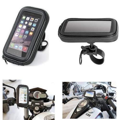 Porte téléphone portable Smartphone Téléphone Coque de guidon 90423 Lampa vélo moto pour cagiva mito 125 1990 – 1994