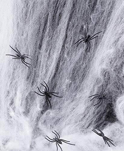 Giant Halloween Toile daraign/ée avec trois /Énormes comme Hairy araign/ées pour de meilleurs Halloween D/écorations Props par Spooktacular Creations