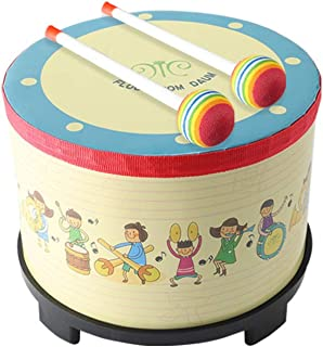 Floor Tom Drum 8 Gathering Club Carnival Colourful Colour Instrument with 2 Mallets Music Drum Music for Child ویژه هدیه تولد کریسمس. (8 اینچ)