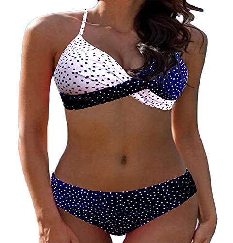 Joligiao Bikinis Mujer Push Up con Relleno en V Bikini Sujetador Conjunto Traje de Baño Acolchado Bikini Sets Bañador Ropa de Dos Piezas para Playa