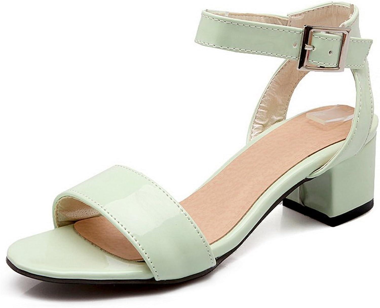 BalaMasa Womens Sandals Solid Huarache Urethane Sandals ASL04737