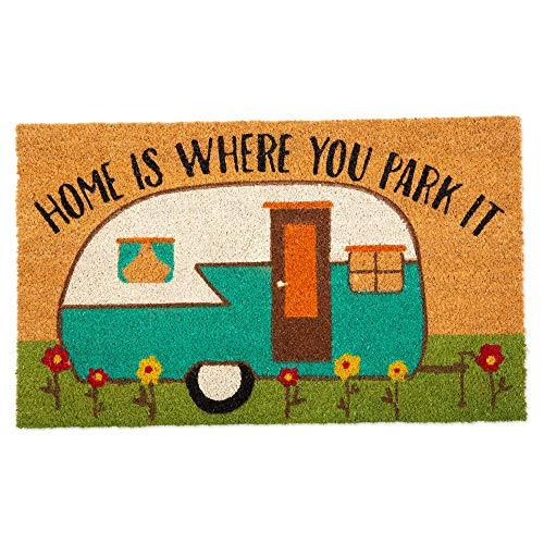Indoor/Outdoor Natural Coir Fiber Vintage Camper Doormat
