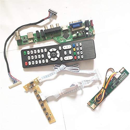 Para N141X3-01/02 inversor+control remoto+teclado T.V53 tarjeta de unidad 1CCFL LVDS 20Pin HDMI VGA AV USB RF LCD panel DIY kit (N141X3-02)