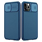 Nillkin Compatible with iPhone 12 Pro Max Case, Upgrate CamShield Case with Slide Camera Cover, Slim Protective Case, Blue