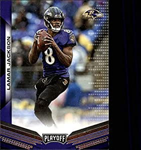 2019 Playoff Football #25 Lamar Jackson Baltimore Ravens Official Panini NFL Trading Card