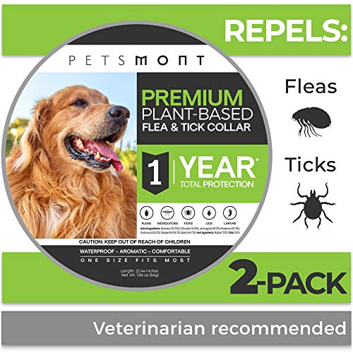 Petsmont Flea Collar for Dogs, Tick Collar for Dogs, Flea and Tick Collar for Dogs, Dog Flea Collar, Unique Plant Based Formula, Small to Extra Large,...