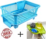 2Mech Multipurpose 3 in 1 Large Sink Set Dish Rack Drainer with Tray