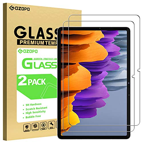 GOZOPO Protector de pantalla para Samsung Galaxy Tab S7 [2.5D Edge to Edge] [Resistente a los arañazos] 11' Galaxy Tab S7 película de vidrio templado 2020 lanzado modelo SM-T870/T875